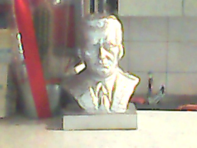 Silver plated Tito!  Courtesy of my crap cell phone!