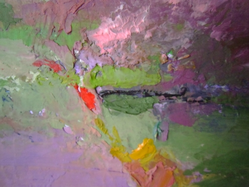 Detail of Green, Pink by M.K. Hajdin